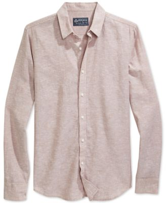 Image of American Rag Men's Long-Sleeve Linen Shirt, Only at Macy's