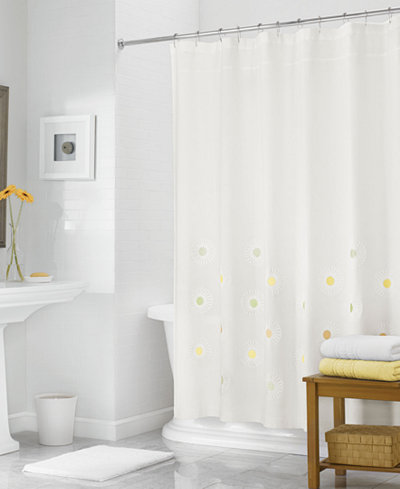 Martha stewart collection 72 x 72 rosette embroidered shower curtain only at macy 39 s shower Martha stewart bathroom collection