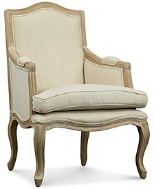 Kempler Wood Traditional French Accent Chair