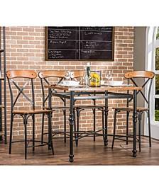 Shilo Wood & Metal 5-Pc. Pub Set