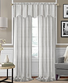 "CLOSEOUT! Enza Semi-Sheer Jacquard Stripe Pair of 52"" x 95"" Panels"