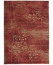 CLOSEOUT! Somerset Flame Blossom Area Rugs