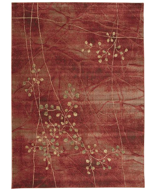 "Nourison CLOSEOUT! Somerset Flame Blossom 7'9"" x 10'10"" Area Rug"