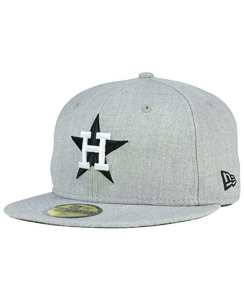 721fcb667f9 ... New Era Houston Astros Heather Black White 59FIFTY Fitted Cap ...