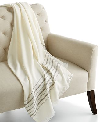 CLOSEOUT! Home Design Studio Border Stripe Throw Blanket