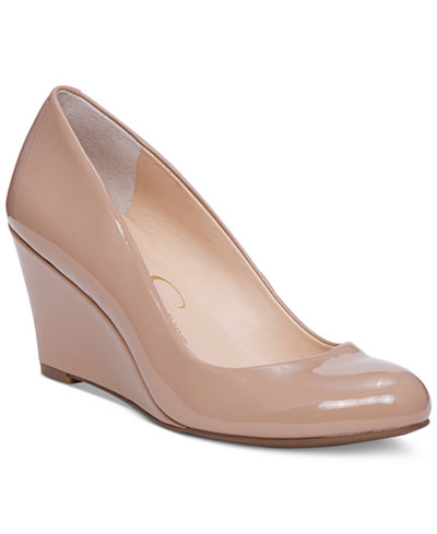 Jessica Simpson Sampson Round-Toe Wedge Pumps
