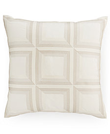 """CLOSEOUT! Hotel Collection Modern Eyelet Embroidered 18"""" Square Decorative Pillow, Created for Macy's"""