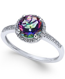 ring jewelry topaz women men fire rings bhp junxin mystic ebay gold black for watches size rainbow