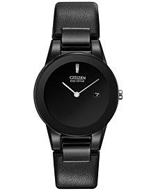 Citizen Women's Eco-Drive Axiom Black Leather Strap Watch 30mm GA1055-06E