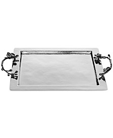 Black Orchid Handled Serving Tray