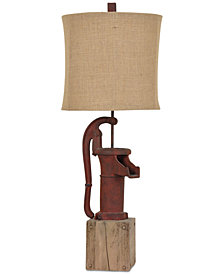 Crestview Antique Pump Table Lamp