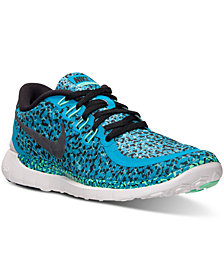 Nike Women's Free 5.0 Print Running Sneakers from Finish Line
