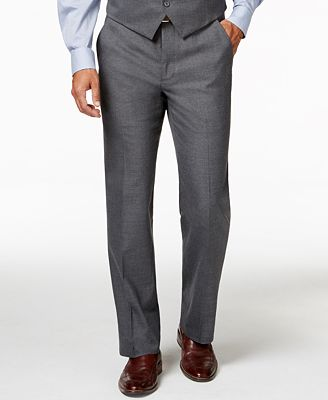 Alfani Traveler Grey Solid Slim-Fit Suit Pants, Created for Macy's ...