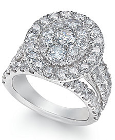 Diamond Ring (4 ct. t.w.) in 14k White Gold