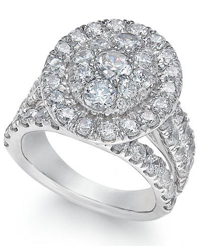 Diamond Ring (4 ct. t.w.) in 14k White Gold