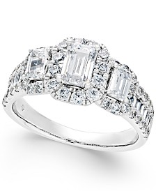 Diamond Engagement Ring (2 ct. t.w.) in 14k White Gold