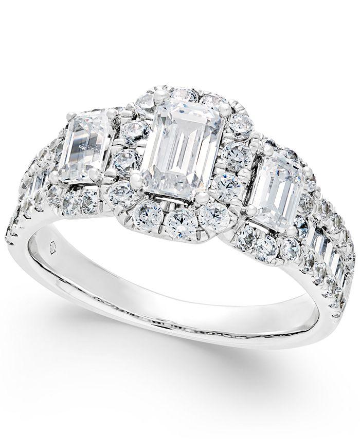 Macy's - Diamond Engagement Ring (2 ct. t.w.) in 14k White Gold