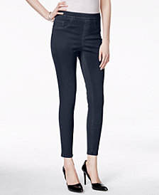 SPANX Cropped Indigo Knit Tummy Control Leggings