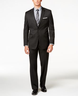 Men's Traveler Black Solid Classic-Fit Pants, Created for Macy's