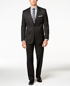 Alfani Men's Traveler Black Solid Big and Tall Classic-Fit Suit Separates, Created for Macy's
