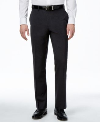Men's Traveler Charcoal Solid Big and Tall Classic-Fit Pants, Created for Macy's