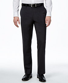 Alfani Men's Traveler Charcoal Solid Big and Tall Classic-Fit Pants, Created for Macy's