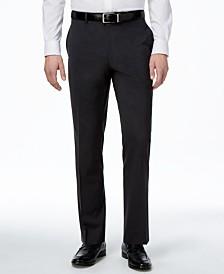 Alfani Men's Traveler Charcoal Solid Classic-Fit Pants, Created for Macy's