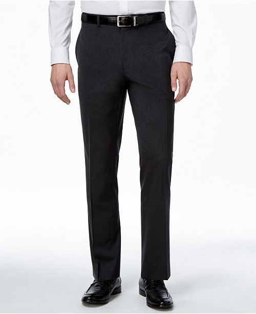 Alfani Men's Traveler Solid Classic-Fit Pants, Created for Macy's