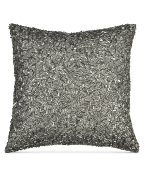 Donna Karan Home Exhale 12 Square Beaded Decorative Pillow Bedding