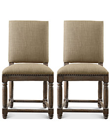 Clayton Set of 2 Dining Chairs, Quick Ship