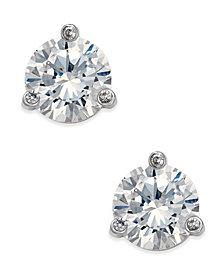 kate spade new york Tri-Claw Stone Stud Earrings