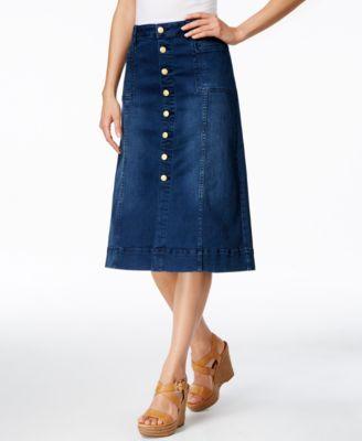 JAG Barrett A-Line Dark Wash Denim Skirt - Skirts - Women - Macy's