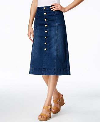 JAG Barrett A-Line Dark Wash Denim Skirt