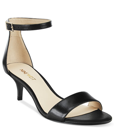 Nine West Leisa Two-Piece Kitten Heel Sandals - Sandals - Shoes ...