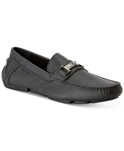 Mens Shoes Calvin Klein Magnus Black Leather