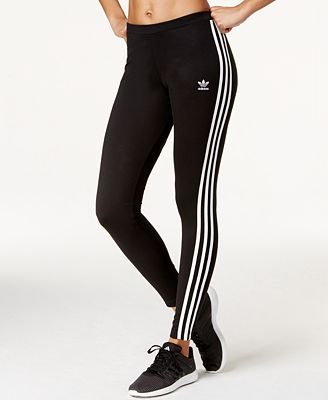 adidas Originals Logo-Striped Leggings - Pants