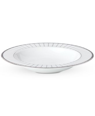 Onyx Platinum Rim Soup Bowl
