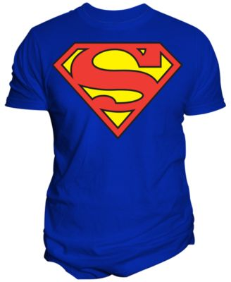 Menu0027s DC Comics Original Superman Shield Logo Graphic Print T Shirt From  Changes