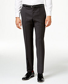 HUGO Men's Charcoal Slim-Fit Pants
