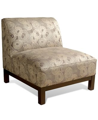 mineral nickel living room chair, slipper chair - furniture - macy's