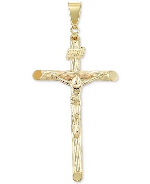 Macy's Crucifix Cross Pendant in 14k Gold