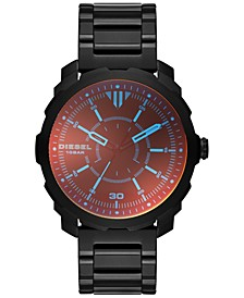 Men's Machinus Black Ion-Plated Stainless Steel Bracelet Watch 46x51mm