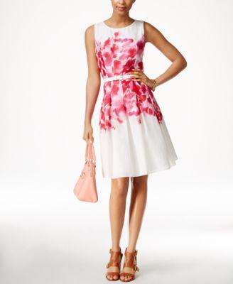 tommy hilfiger printed aline dress
