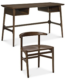 CLOSEOUT! Hirono Home Office Furniture, 2-Pc. Set (Desk and Chair)