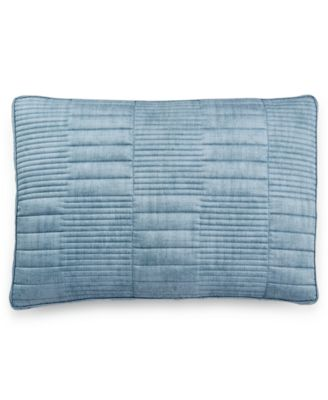 Colonnade Blue Quilted King Sham
