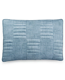 Hotel Collection Colonnade Blue Quilted King Sham