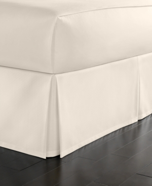 Martha Stewart Collection California King Cotton Pique Bedskirt Bedding