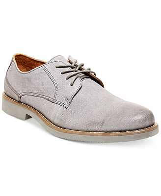 Steve Madden Men's Trill Burnished Plain Toe Oxfords