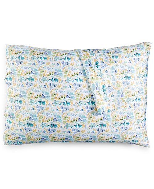 bluebellgray Rowan Floral-Print Pair of King Pillowcases
