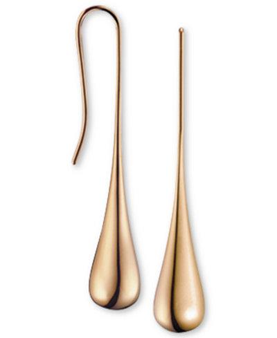 Calvin Klein ellipse Rose Gold-Tone PVD Stainless Steel Drop Earrings KJ3QPE100100